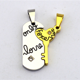 'Only Love Forever' Titanium Steel Couple Necklaces