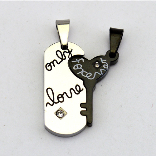 Valentine's Day Sale 'Only Love Forever' Titanium Steel Couple Necklaces