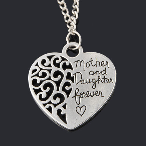 Mother and daughter forever heart pendant necklace evermarker mother and daughter forever heart pendant necklace aloadofball Gallery