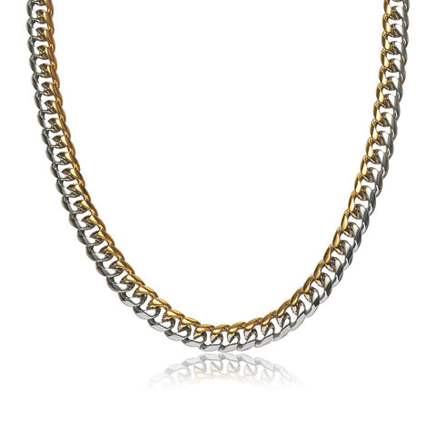 Gold Silver Men Curb Chain Men Necklace