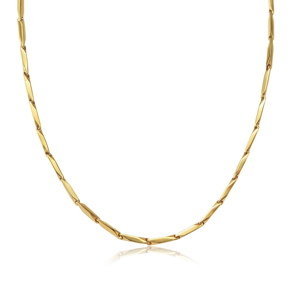 Gold Stainless Steel Men Chain Necklace