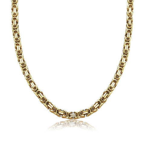 Gold Stainless Steel Craft Men Chain Necklace