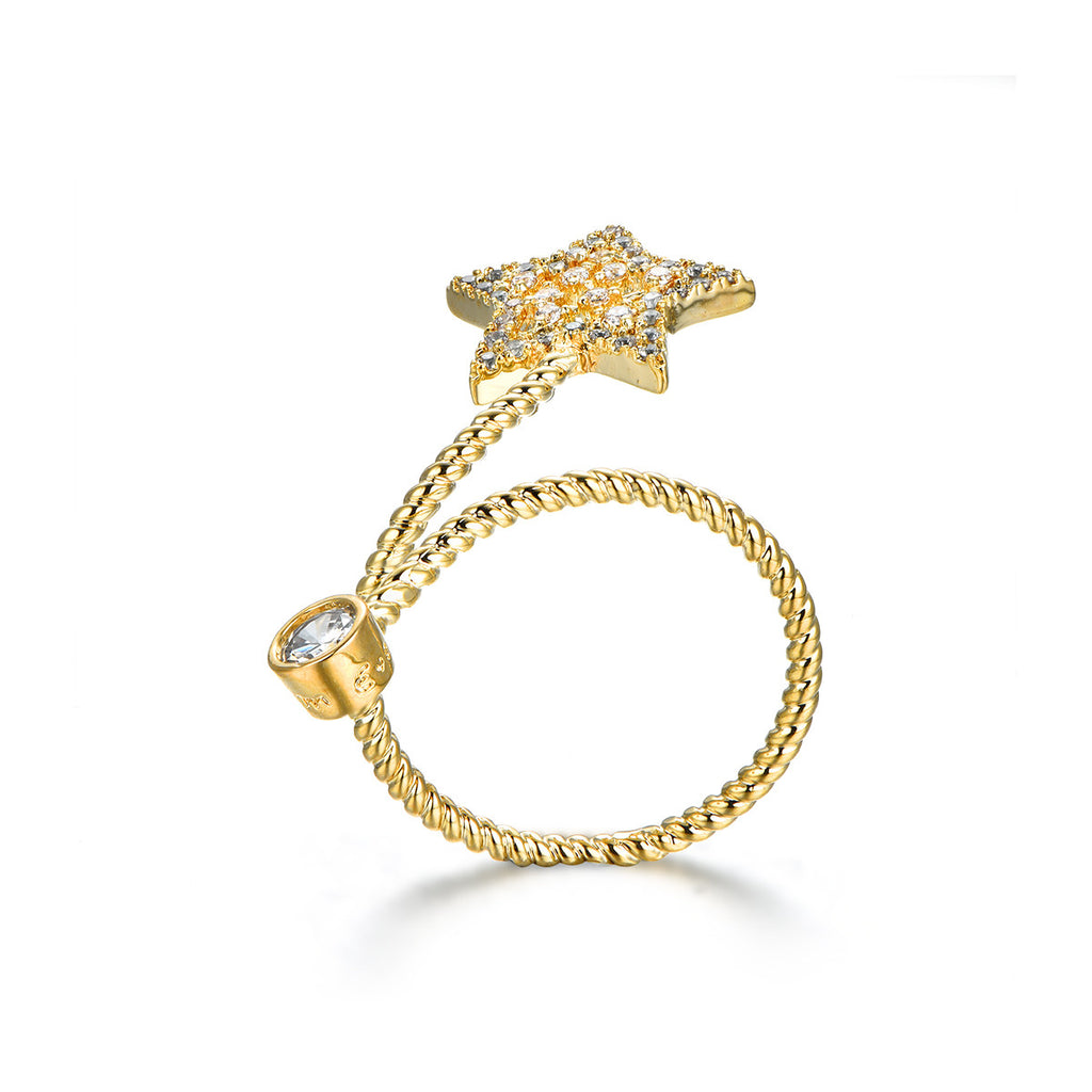 Moon Twinkle Star Ring
