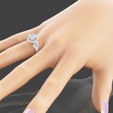 2ct Created White Sapphire Floral Engagement Wedding Ring