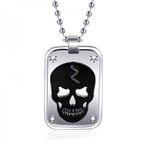 Hollow-out Carving The Skeleton Titanium Steel Men Necklace