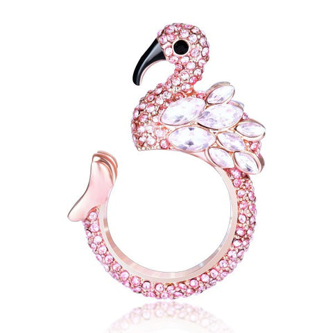 Flamingo Shape Women's Opening Cocktail Ring