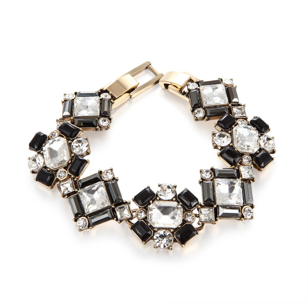 Geometric Diamond Statement Charm Bracelet