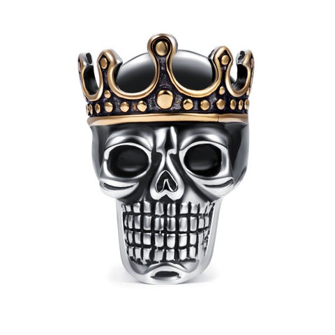 Skull King Titanium Steel Men's Ring