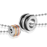 Wonderful Multilayer Circles Shape Titanium Steel All-match Couple Necklace(Price For A Pair)