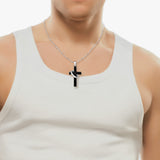 Personalized Cross Titanium Steel Lover Couple Necklaces