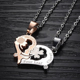 "Personalized ""Kiss Me"" Couple Necklaces Engraveble (Price For a Pair)"