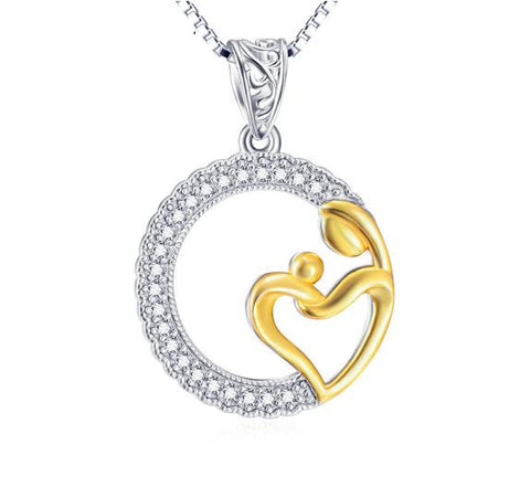 925 Sterling Silver Maternity Pendant Necklace