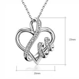 Love keepsake heart-shaped 925 silver Necklace