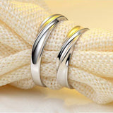 Twisted 925 Sterling Silver Couple Rings