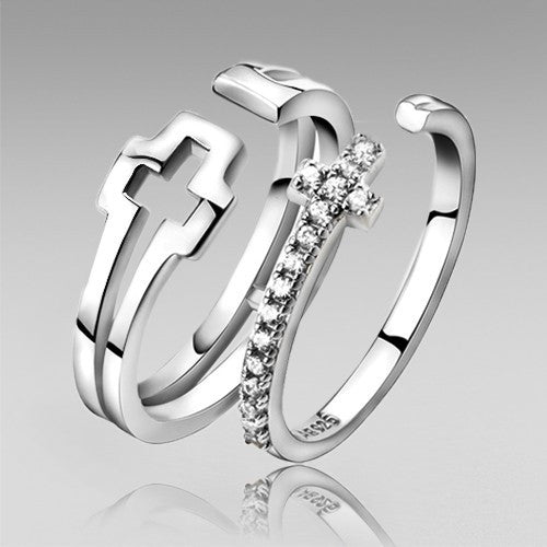 cross-style-925-sterling-silver-adjustable-couple-rings