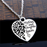¨¹Mother and Daughter Forever¨¹ Heart Pendant Necklace