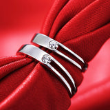 Hollow Out 925 Sterling Silver Lover Rings