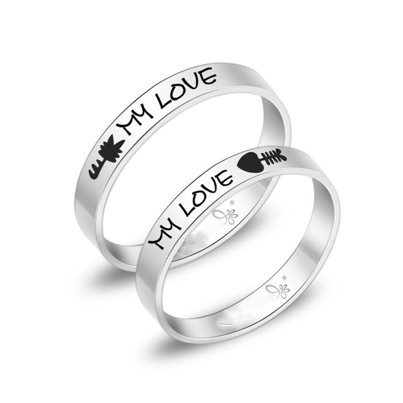 fish-love-cat-titanium-steel-couple-rings