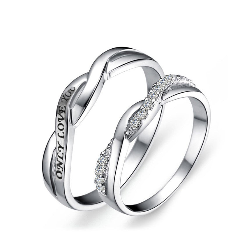 cubic products zirconia forever rings couple couples personalized steel love titanium collections