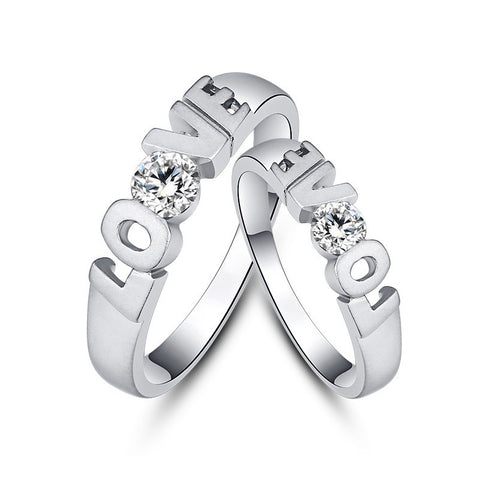 creative-lettering-love-diamond-925-sterling-silver-couple-rings