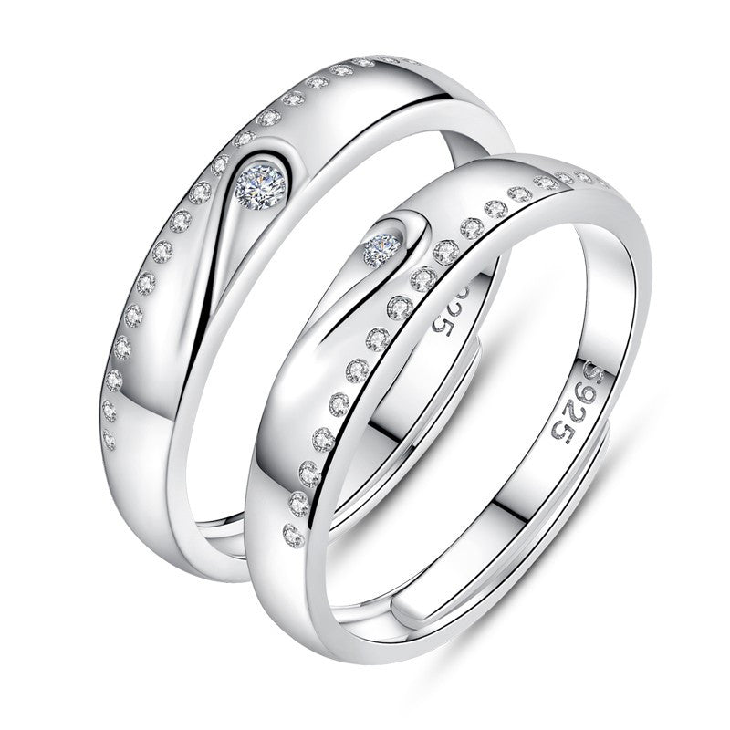 creative-personality-korean-love-mutual-affinity-opening-couple-rings