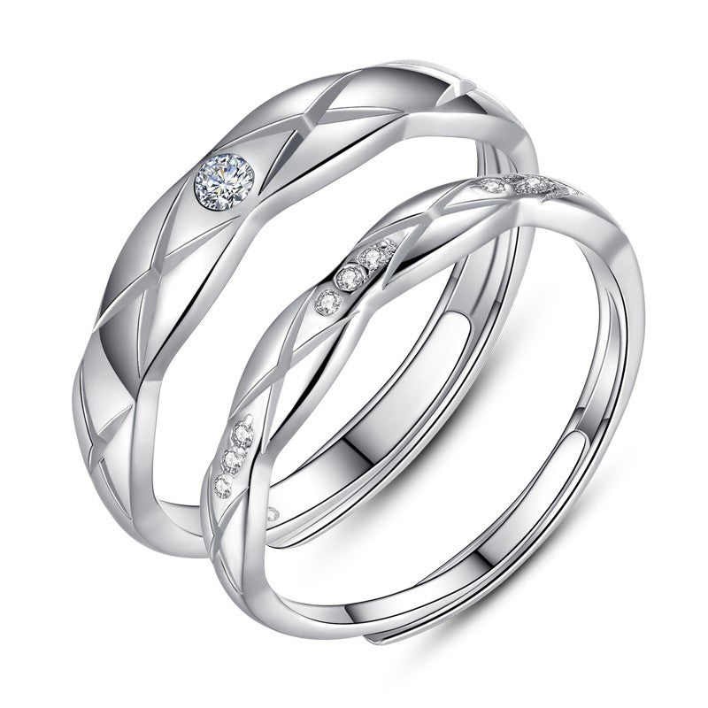 new-mesh-surface-s925-sterling-silver-adjustable-couple-rings