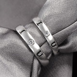 Confession I Love You S925 Silver Engraving Couple Rings