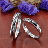 Creative Heart-Shaped Opening Couple Rings