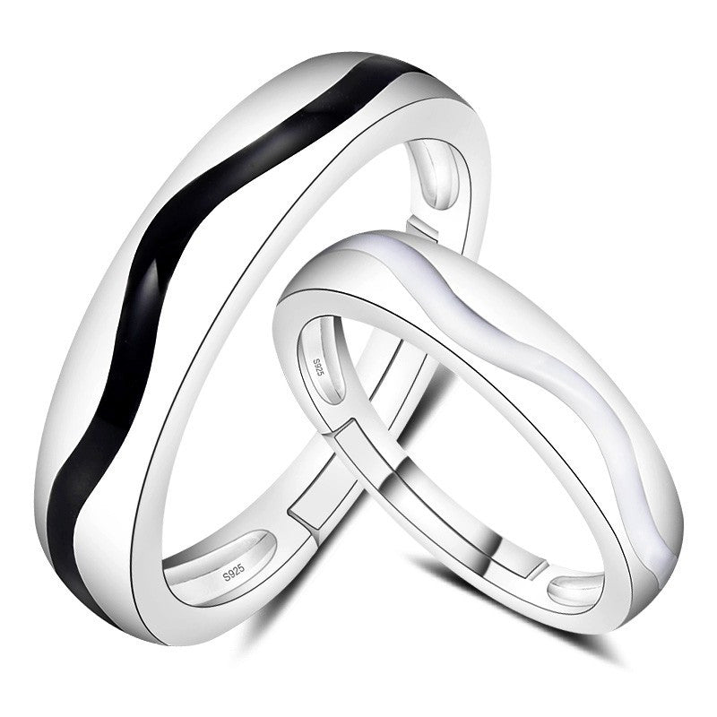 creative-black-and-white-waves-925-silver-couple-rings