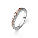 925 Sterling Silver Heart With Zircon Pave Women Ring