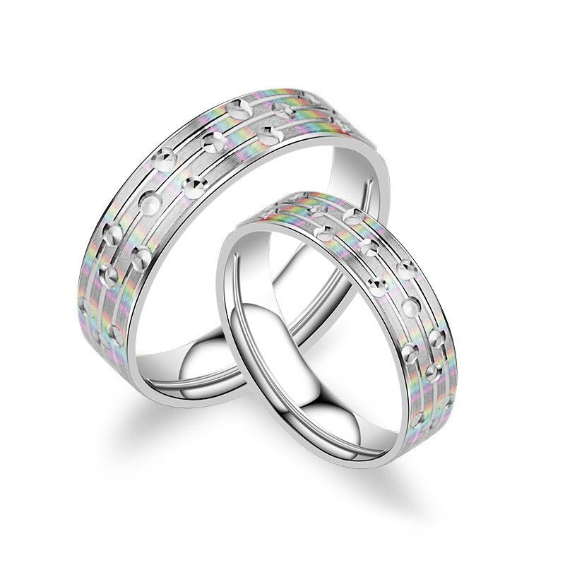 ab68aec19b Aesthetic Creative Matte 925 Sterling Silver Couple Rings – EverMarker