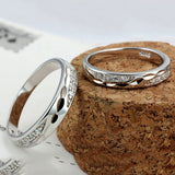 925 Sterling Silver Inlaid Cz Couple Rings