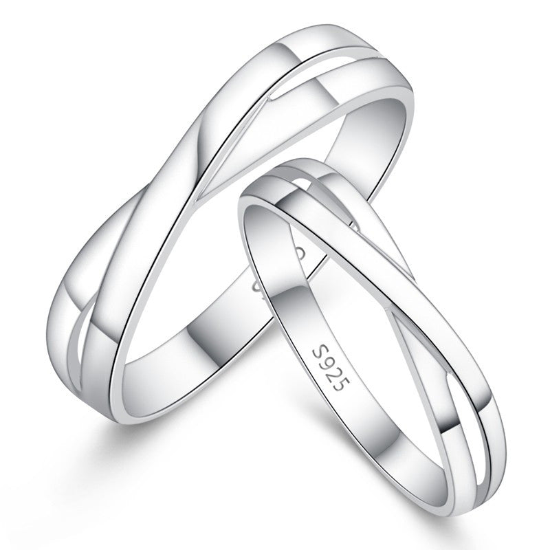 Intertwined Love Simple Couple Rings – EverMarker