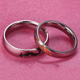 Male & Female Inlaid Cubic Zirconia Couple Rings