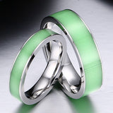 Green Luminous Couple Rings