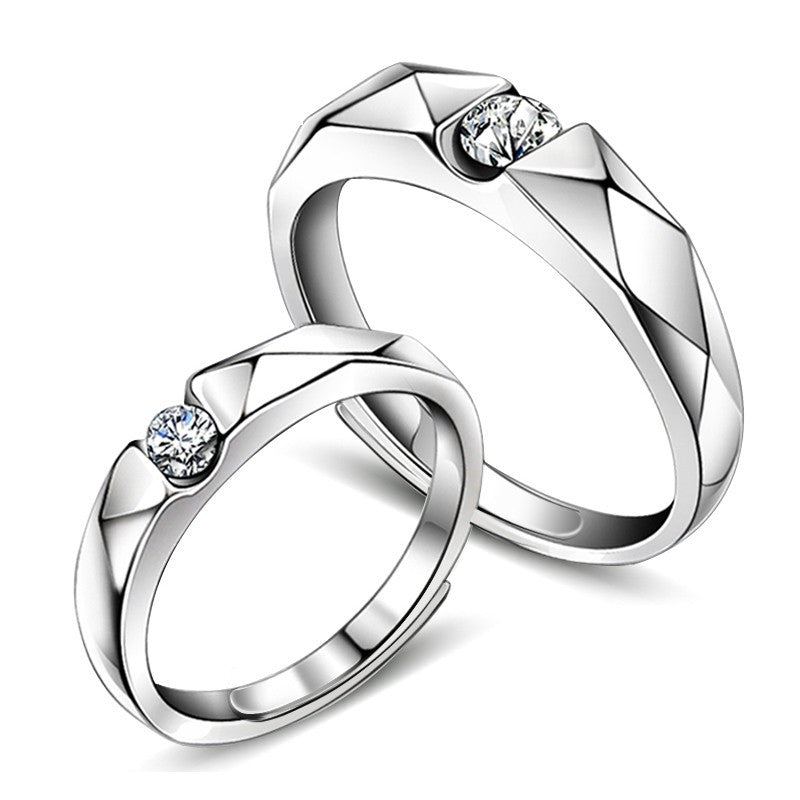 stylish-simplicity-925-sterling-silver-rhombic-cutting-opening-couple-rings