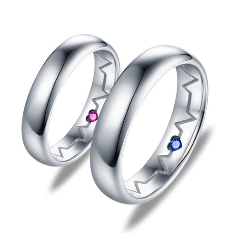 fashion-simple-love-electrocardiogram-s925-silver-couple-rings