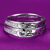 Love Forever Opening Lettering S925 Silver Couple Rings