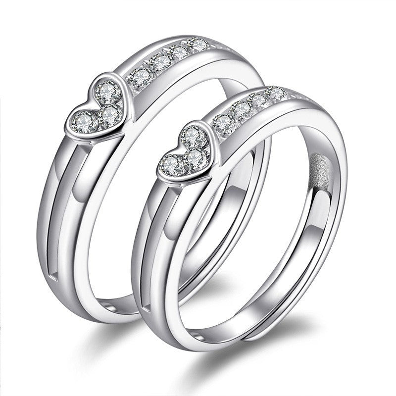 fine-polished-heart-shaped-925-sterling-silver-inlaid-cubic-zirconia-couple-rings