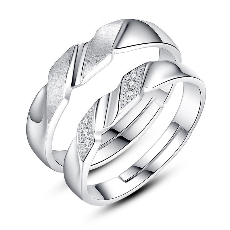 korean-creative-delicate-matte-with-cubic-zirconia-925-silver-couple-rings