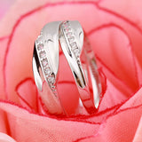 LOVE YOU FOREVER 925 Silver Couple Rings