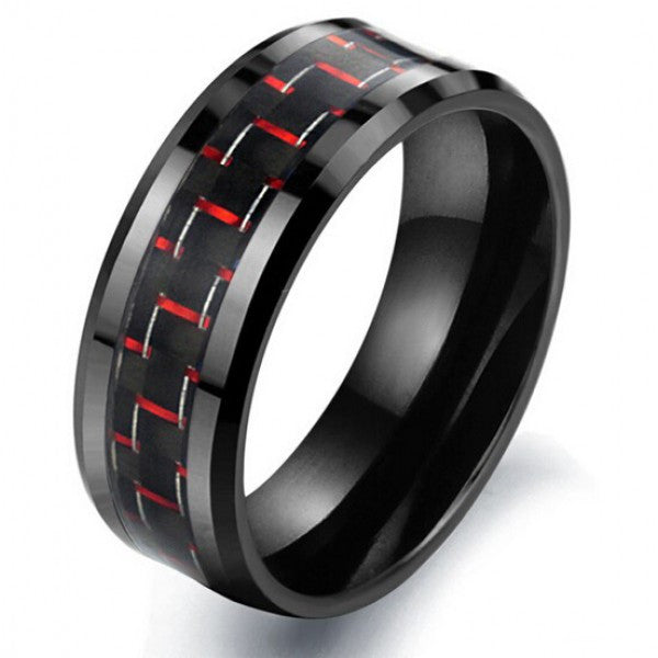 Fabulous Black&Red Man's Fashion Ring