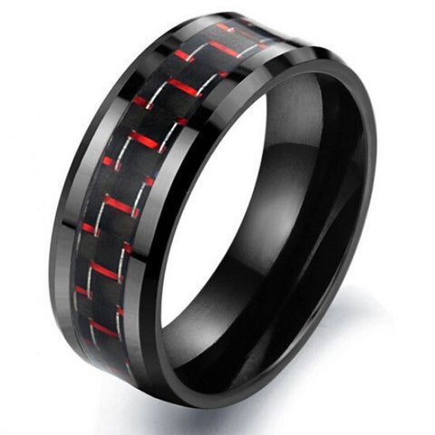 Personalized Fabulous Black&Red Men's Fashion Ring