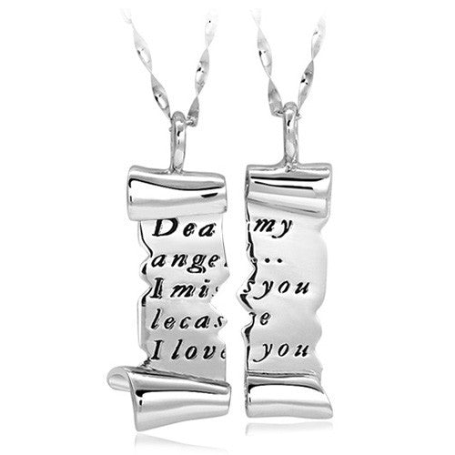 romantic-torn-love-letter-lover-s-sterling-silver-necklaces-price-for-a-pair