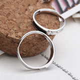 Adjustable Hollow Out Arrowhead Couple Rings