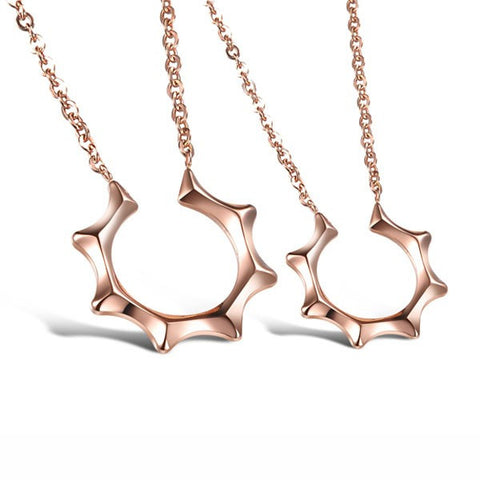 romantic-sun-shape-rose-gold-stainless-steel-lover-s-necklace-price-for-a-pair