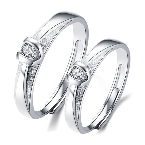 adjustable-dull-polish-platinum-plated-925-sterling-silver-couple-rings-price-for-a-pair