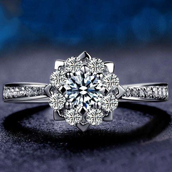 925 Sterling Silver Diamond Engagement Ring