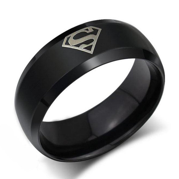 personalized men s ring superman titanium steel assorted color