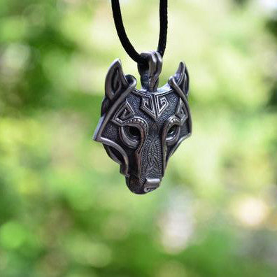 Norse Wolf Head Necklace Original Jewelry